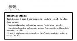 Concorso oss di Perugia per 12 posti da operatore socio sanitario