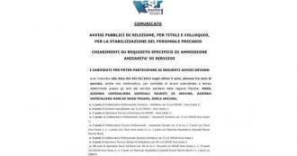 Selezione OSS ASUR Area Vasta n.1 - Chiarimenti sui requisiti